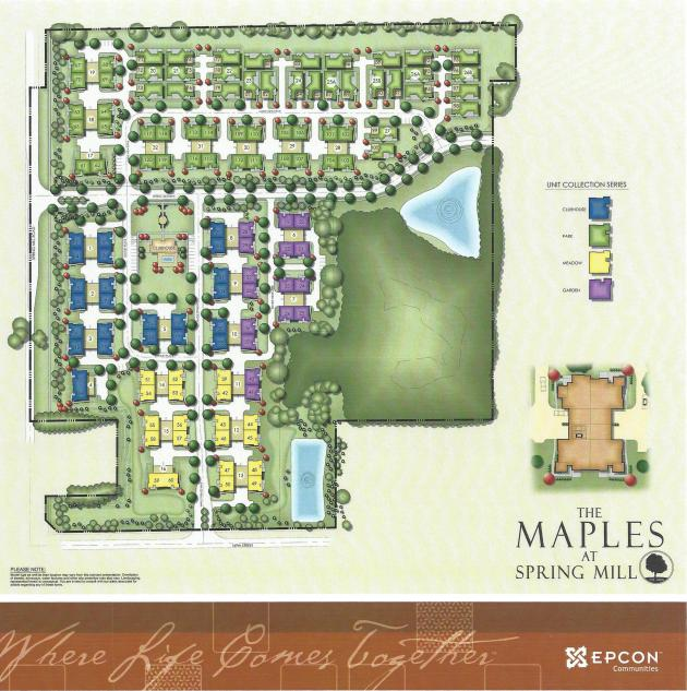 The Maples at Spring Mill Site Plan